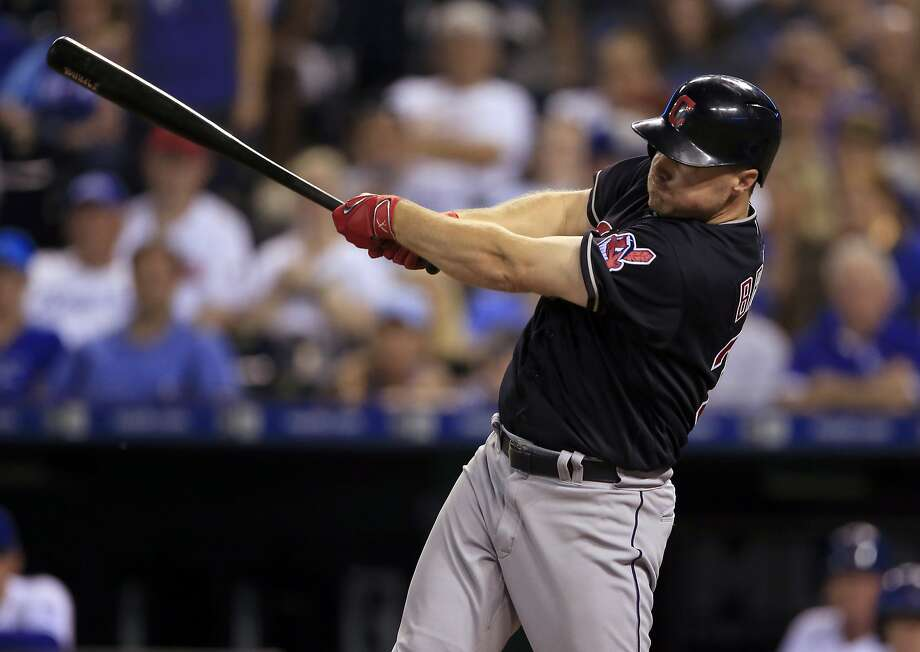 After being acquired from the Mets in an Aug. 9 trade, Cleveland outfielder Jay Bruce hit .375 with three homers and 12 RBIs during an 11-game trip as the Indians went 8-3. Photo: Orlin Wagner, Associated Press