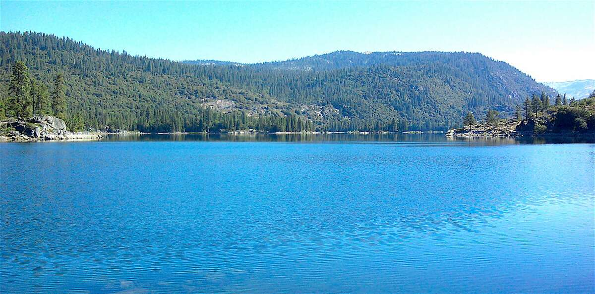 Lake Eleanor, tucked just inside the northwest border in Yosemite National Park, is 93 percent full and can be reached with a short hike from Cherry Lake in Stanislaus National Forest