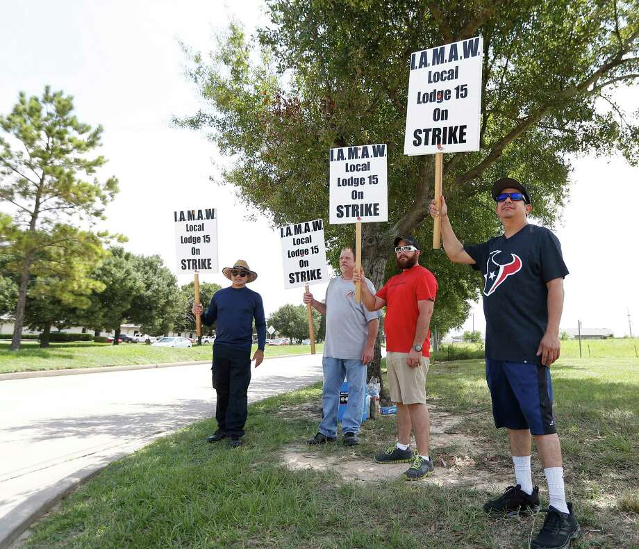 After weeks of negotiations, 271 Machinist members employed by Wyman-Gordon in Houston began a strike calling for a fair and equitable contract from the company.  The strike commenced at 12:00 a.m, Monday, Aug. 21, 2017, in Houston.  ( Karen Warren / Houston Chronicle ) Photo: Karen Warren, Staff Photographer / @ 2017 Houston Chronicle
