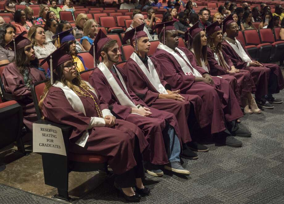 MISD summer graduates listen to remarks 8/21/17 during the 2017 Summer Graduation Ceremony. Tim Fischer/Reporter-Telegram Photo: Tim Fischer/Midland Reporter-Telegram