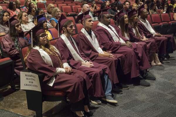 MISD summer graduates listen to remarks 8/21/17 during the 2017 Summer Graduation Ceremony. Tim Fischer/Reporter-Telegram