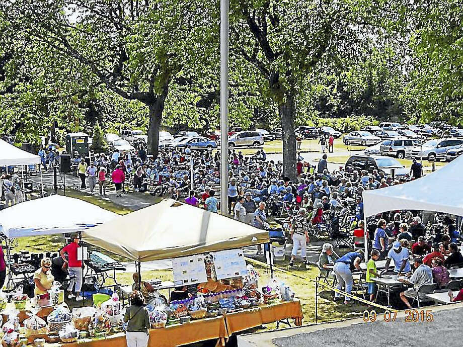 Crowds turn out for the annual Labor Day Family Festival and Picnic in Derby. Photo: ST. JUDE'S CHURCH