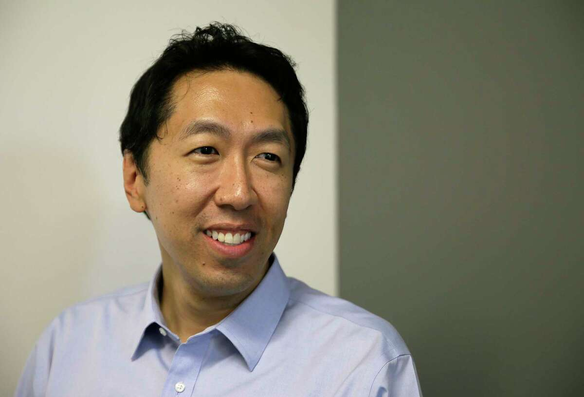 In this Friday, July 14, 2017, photo, computer scientist Andrew Ng poses at his office in Palo Alto, Calif. Ng, one of the world's most renowned researchers in machine learning and artificial intelligence, is facing a dilemma: there aren't enough experts trained to train the machines. So when he isn't pushing into the frontier of AI himself, Ng is building new ways to help educate the next generation of AI specialists. (AP Photo/Eric Risberg)