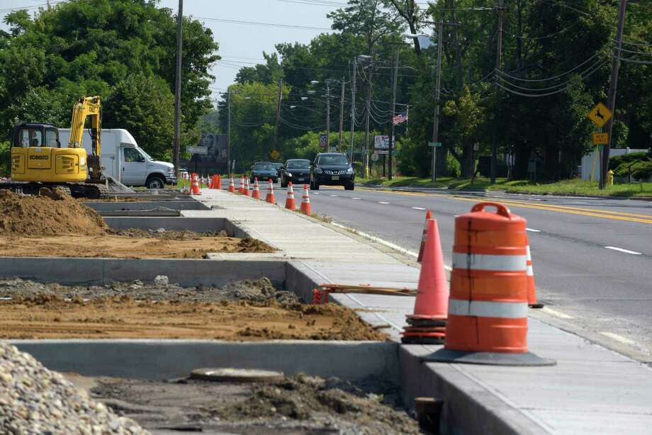 A view of Delaware Ave. on Monday, Aug. 21, 2017, in Delmar, N.Y. Most of the town of Bethlehem's capital budget goes to sewer and water upgrades. Sidewalk improvements make up a smaller portion.     (Paul Buckowski / Times Union) Photo: PAUL BUCKOWSKI / 20041340A