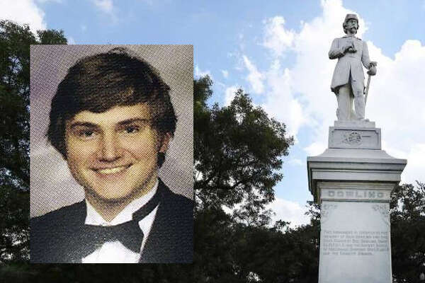Andrew Schneck is accused of attempting to blow up a Confederate monument in Hermann Park on Saturday, August 19, 2017.