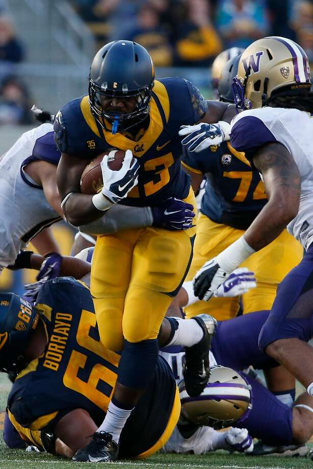 BERKELEY, CA - OCTOBER 11:  Running back Vic Enwere #23 of the California Golden Bears runs the ball during the fourth quarter against the Washington Huskies on October 11, 2014 at California Memorial Stadium in Berkeley, California. The Huskies defeated the Golden Bears 31-7.(Photo by Stephen Lam/Getty Images) Photo: Stephen Lam, Getty Images