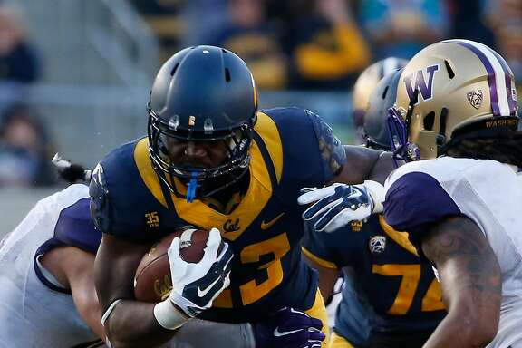 BERKELEY, CA - OCTOBER 11:  Running back Vic Enwere #23 of the California Golden Bears runs the ball during the fourth quarter against the Washington Huskies on October 11, 2014 at California Memorial Stadium in Berkeley, California. The Huskies defeated the Golden Bears 31-7.(Photo by Stephen Lam/Getty Images)