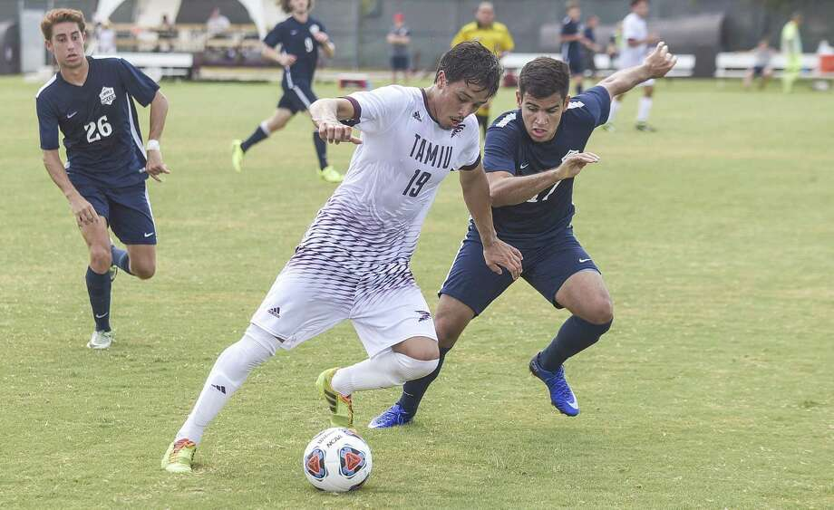 Marcelo Machado scored his first goal of the season as the Dustdevils won 2-0 at Lubbock Christian Thursday afternoon in a battle of postseason hopefuls. Photo: Danny Zaragoza /Laredo Morning Times File