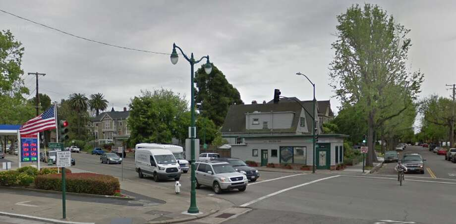 """A neighborhood resident reported finding two flyers displaying a swastika and a """"hate message"""" on the 1400 block of Sherman Street on Sunday, said Alameda police Sgt. Rich Soto. Photo: Google Earth"""