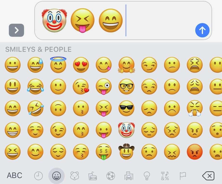 Smiley emojis keep us happy. Photo: Chronicle Screenshot