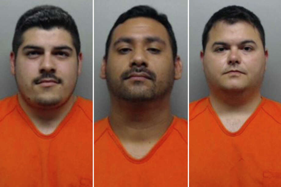 Authorities identified them as correctional officer Jose M. Avila, five years of service; correctional officer Jorge Ramos, two years of service; and deputy Alfredo Sandoval Jr., seven years of service. Photo: Webb County Sheriff's Office