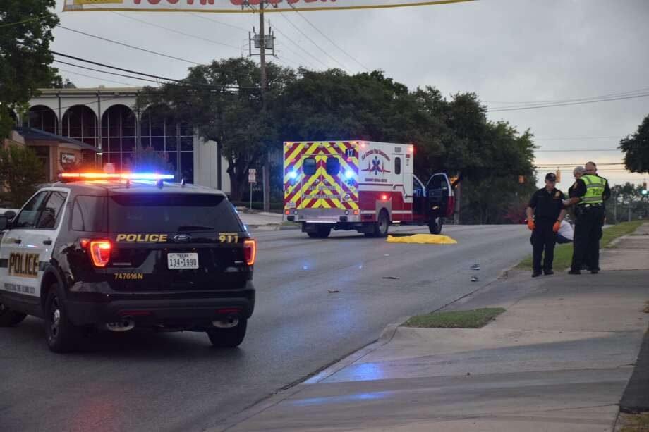 A pedestrian was struck and killed by a vehicle Tuesday morning on the North Side. Photo: Caleb Downs / San Antonio Express-News