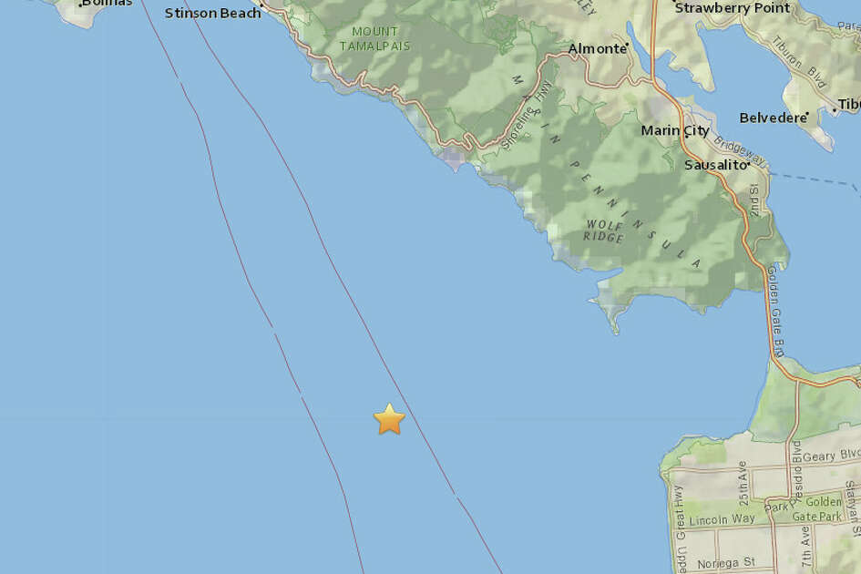 A magnitude 3.2 quake struck off the San Francisco at 5:36 AM on August 22, 2017. The quake was centered 5 miles southwest of Muir Beach and 6.8 miles northwest from the San Francisco zoo.