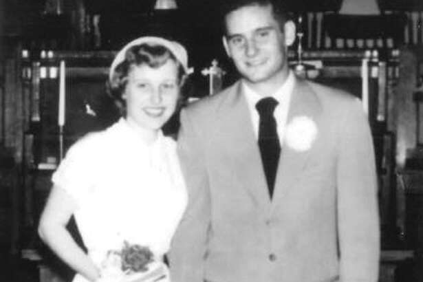 Pictured is Norma and Loren Klaus at their wedding on Aug. 17, 1952.