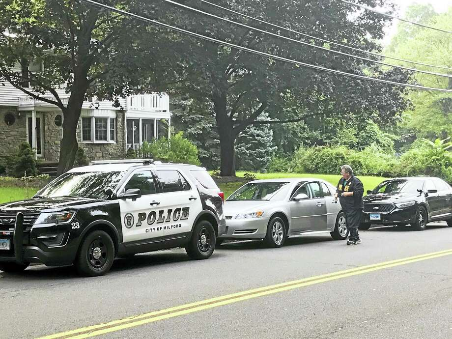 Milford Police are investigating a possible untimely death Tuesday morning. Photo: Jessica Lerner / Hearst Connecticut Media