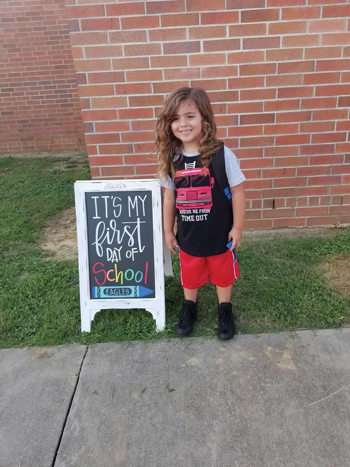 Jabez Oates, 4, has been told by his kindergarten school in Barber's Hill Independent School District that he cannot return unless he cuts his long hair.