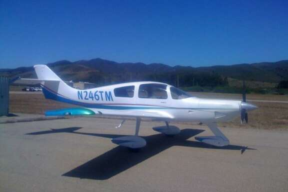 A photo of the plane that crashed near Madras Municipal Airport in Oregon on Saturday, killing Menlo Park resident Mark James Rich.
