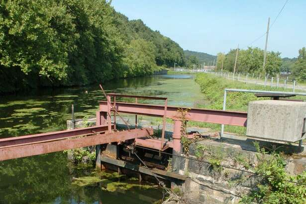 The Canal Street locks in Shelton. A new brownfields assessment grant will allow for the investigation of contamination in properties along Canal Street leading up to the area that includes the locks.