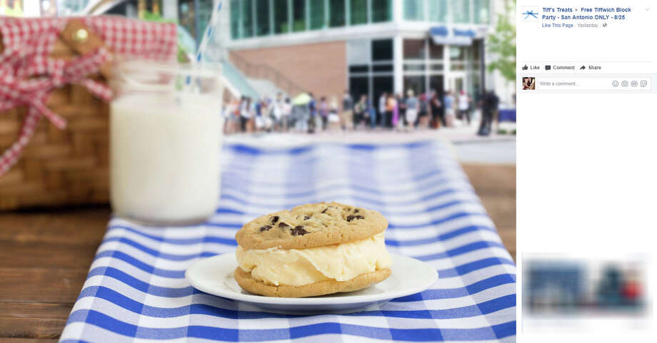 Receive a free Tiffwich on Aug. 25, 2017, at Tiff's Treats' Tiffwich Block Party. Photo: Tiffs Treats/Facebook