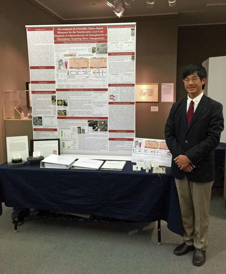William Yin, 18, valedictorian of the Greenwich High School Class of 2017, was named a Davidson Fellow on Tuesday and awarded a $25,000 scholarship for his scientific research from the Davidson Institute for Talent Development. Photo: Contributed