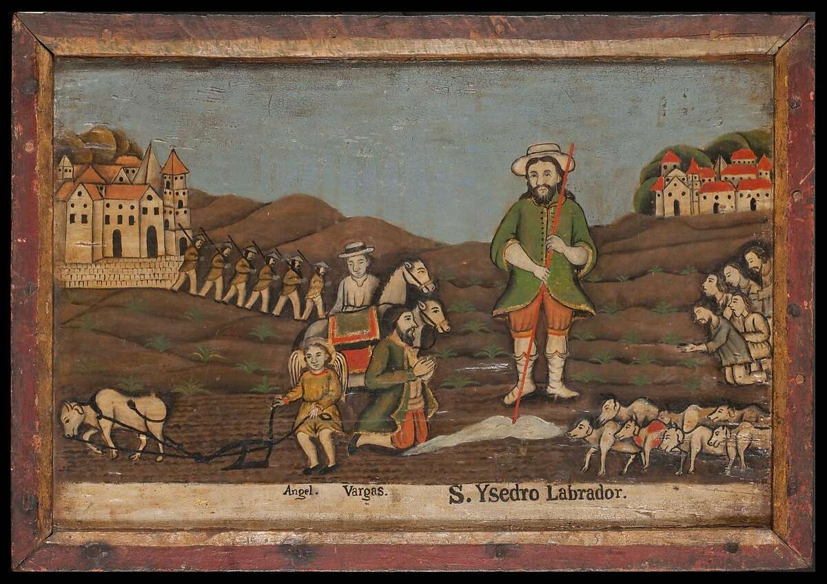 """""""Saint Isidore the Farmer and Worshippers in a Field"""" (ca. 1750�1800), by an unknown Filipino artist"""