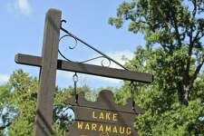 A sign for Lake Waramaug State Park, in New Preston, Conn.Tuesday, September 13, 2016.