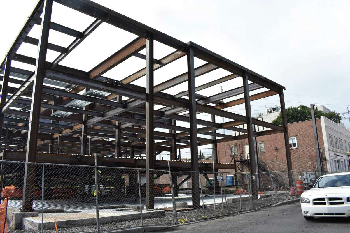 The SoNo Residence Inn by Marriott goes vertical on South Main Street in South Norwalk, Conn., in mid-August 2017. Stamford-based F.D. Rich is developing the hotel steps from Washington Street's restaurant row and others in the nearby vicinity, with the venue expected to provide a big boost for SoNo's hospitality sector when it opens in 2018.