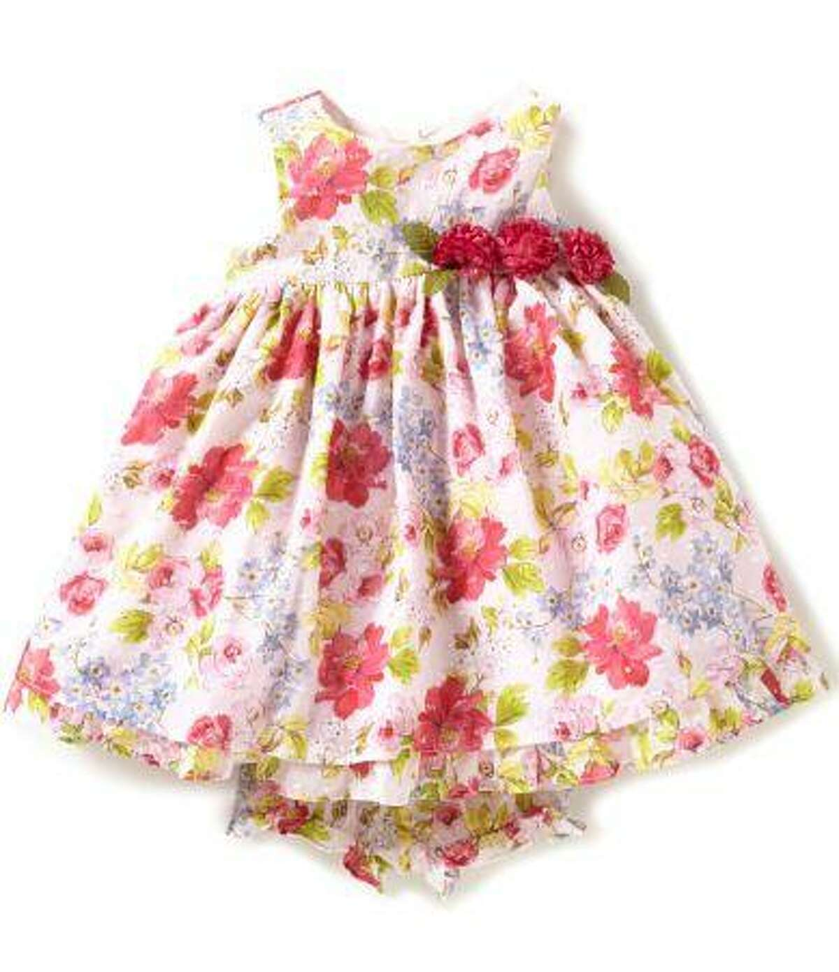 The company Pastourell is recalling about 2,800 Laura Ashley girl's dresses because the flower petals can detach, posing a choking hazard to children. Photo courtesy of the Consumer Product Safety Commission.
