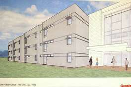 Architect's rendering of the proposed new wing at Bellaire HIgh School.