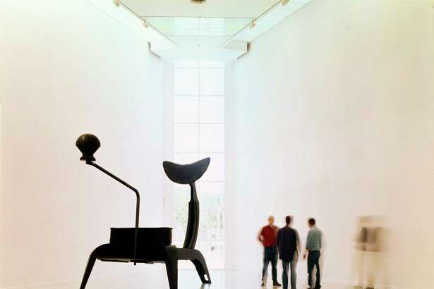 "Mona Hatoum's installation ""La Grande Broyeuse (Mouli-Julienne x 17),"" from 1999, is among works that will be on display at the Menil Collection Oct. 17, 2017-Feb. 25, 2018. It was photographed atMuseum van Hedendaagse Kunst Antwerpen (MUHKA), Belgium. (Mild steel, 135 é— 226 1/2 é— 103 1/2 in. (343 é— 575 é— 263 cm), Discs each: 2 é— 67 in. (5 é— 170 cm). CGAC Collection, Santiago de Compostella. Mona Hatoum. Photo: Wim van Neuten, Courtesy MUHKA, Antwerp.)"