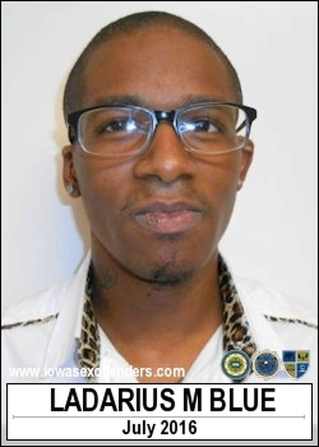 Authorities apprehended convicted sex offender Ladarius Blue, 26, after he reportedly exited a residence to watch the eclipse on Monday, Aug. 21, 2017. Photo: Iowa Sex Offender Registry