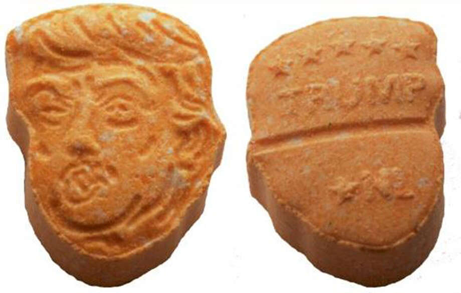 Ecstasy pills designed to look like President Trump were recovered by German police. ( Photo: Polizei Osnabrück) / The Washington Post