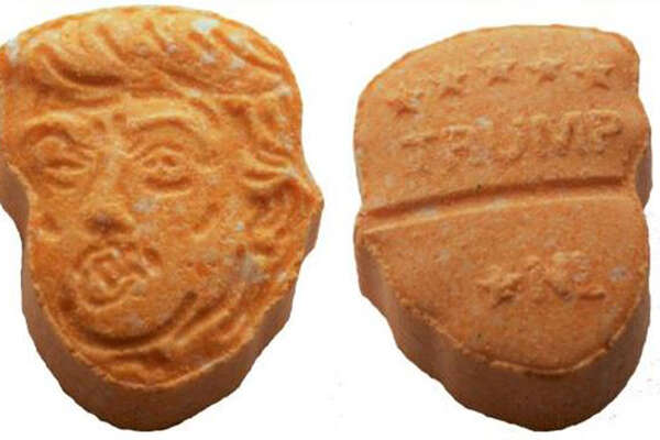 Ecstasy pills designed to look like President Trump were recovered by German police. (