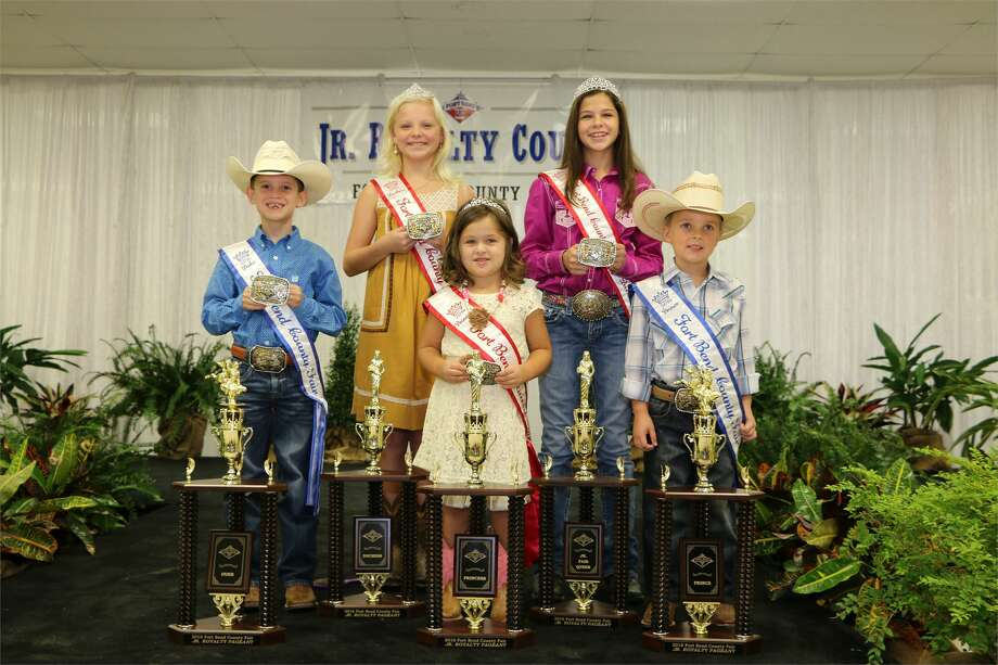 The 2016 Jr Fair Royalty Court, from left, included Duke Connor Sowa, Duchess Marlee Mills, Princess Madeline Bittner, Jr. Fair Queen Rossi Uresti,jr  and Prince Zion Schnacky. Photo: Fort Bend County Fair Association