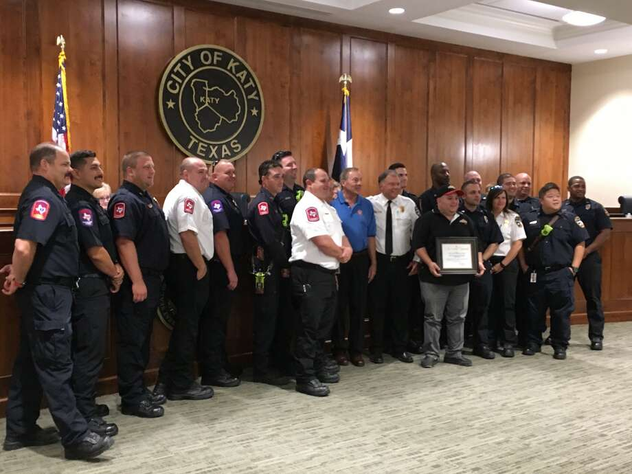 The Katy Fire Department received thanks three times Aug. 14 for saving a life, raising funds for Special Olympics and successfully competing for a for a federal staffing grant. Photo: Karen Zurawski