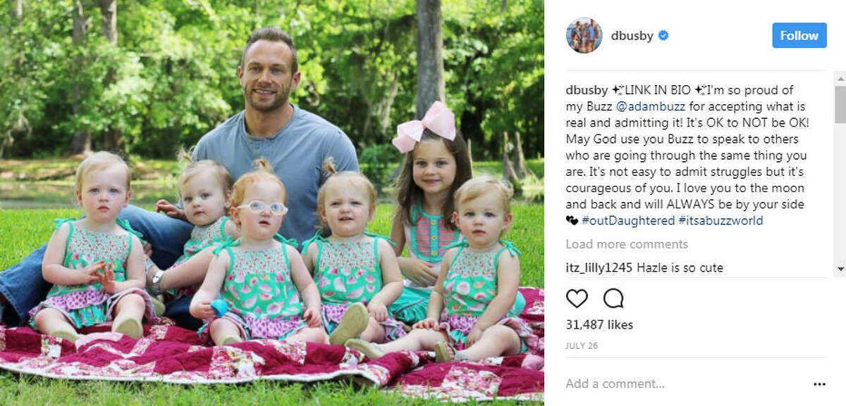 """Houston own Adam Busby - father of six and star of TLC's """"OutDaughtered"""" - has decided to open up about his postpartum depression on season three of the show in hope that his story might help someone else. >>See photos of the Busby family from season three of """"OutDaughtered."""" Photo: Danielle Busby Instagram"""