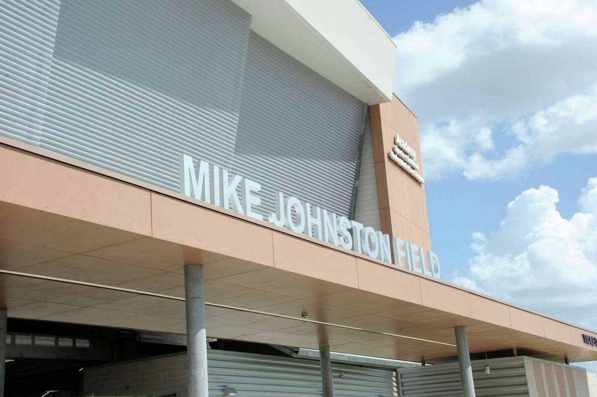 West entrance to the Katy ISD Mike Johnson Field at Legacy Stadium in Katy.