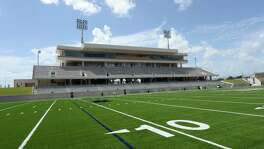 Home team stands at the Katy ISD Legacy Stadium in Katy, TX on August 17, 2017.