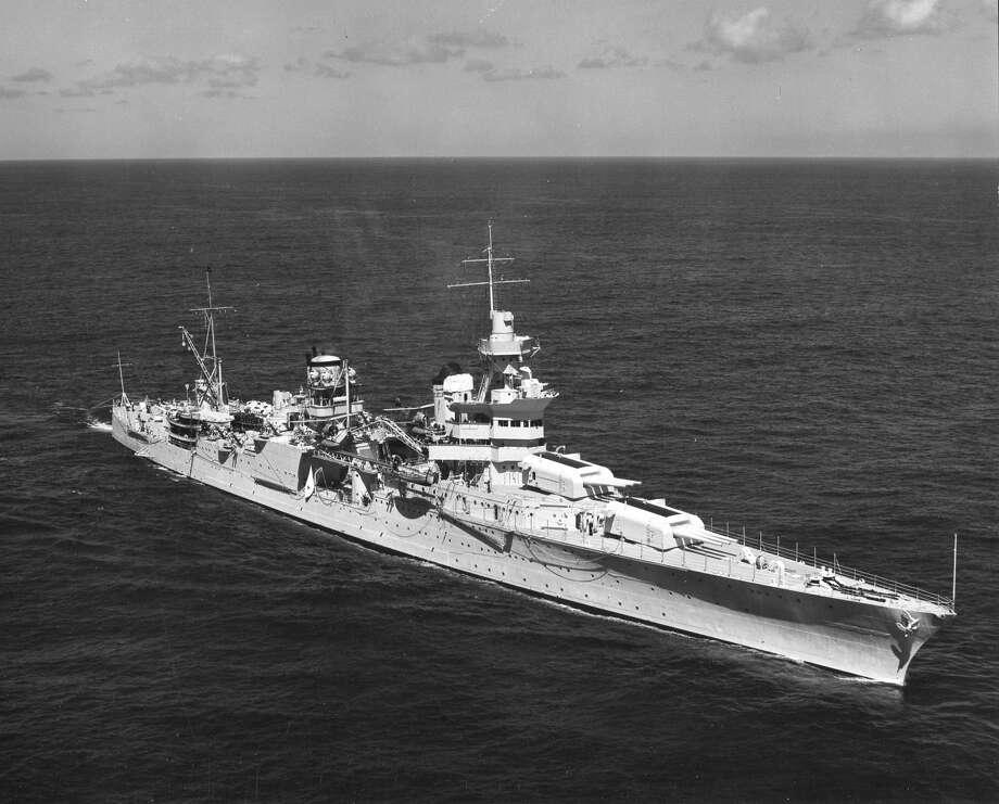 Original caption: Photo of the US Cruiser USS Indianapolis, 1939. Photo: PhotoQuest/Getty Images