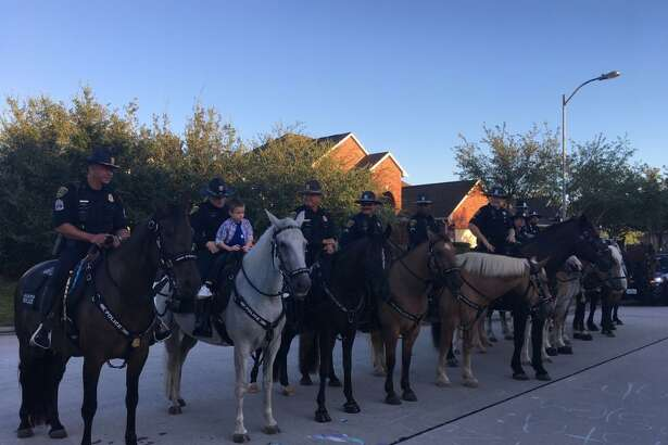 """More than 100 law enforcement officers gathered from across Texas to walk Kevin Will from his house to Willow Creek Elementary School in Tomball ISD where he would start his first of kindergarten. Joe Gamaldi, second vice president of the Houston Police Officers' Union, said he and his fellow officers wanted Will to know his blue family would be there for him after his Will's father, Kevin Will, a Houston police officer, was killed in 2011 while on duty.""""There wasn't a dry eye in the house,"""" Gamaldi said. """"The first day of kindergarten is a very special day."""""""