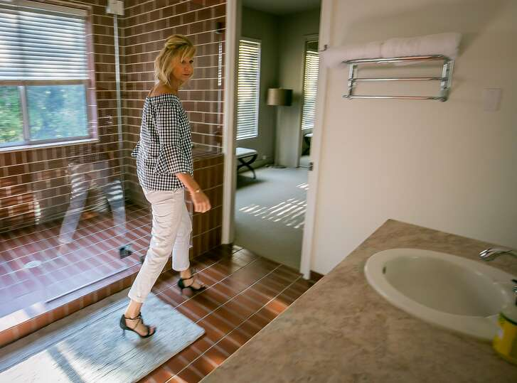 Kelleyanne Dove inspects a home for TurnKey Vacation Rentals before people take occupancy in Glen Ellen, Calif. on August 11th, 2017.