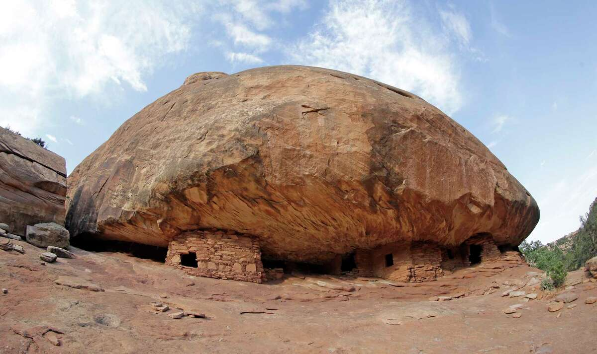 """The """"House on Fire"""" ruins is located in Mule Canyon, near Blanding, Utah. The Interior Department has released a list of 27 national monuments it is reviewing under a presidential order, including Bears Ears and Grand Staircase-Escalante in Utah and Katahdin Woods and Waters in Maine. (AP Photo/Rick Bowmer, File )"""