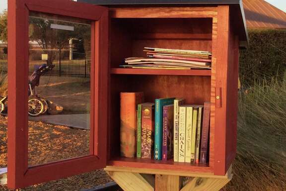 Visitors to a Little Free Libraries can grab a book and go, and readers who want to share books from their own stashes can also leave books there.