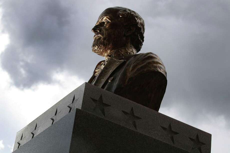 A bronze bust of Confederate general Robert E. Lee is seen in Fort Myers, Florida on Aug. 18. Sure, let's remember him — as a traitor to his country who fought to keep people enslaved. Photo: Joe Raedle /Getty Images / 2017 Getty Images