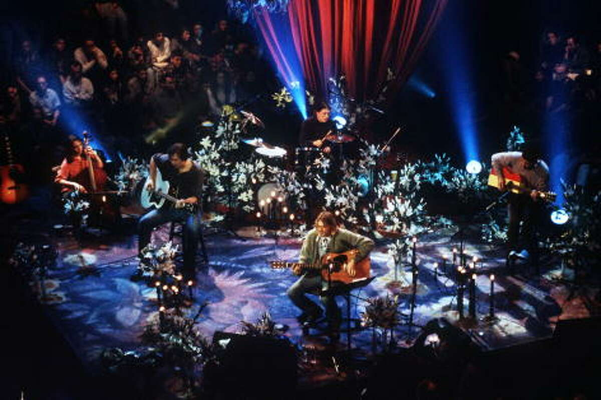 Kurt Cobain of Nirvana during the taping of MTV Unplugged at Sony Studios in New York City, November18, 1993.