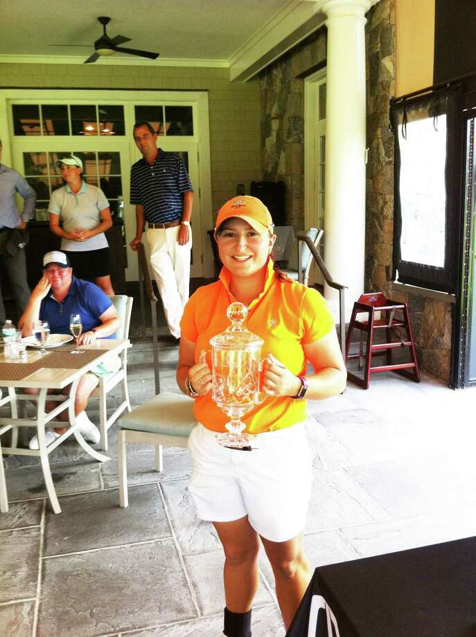 Alexis Hios of Westchester Country Club earned low amateur honors at the Lincoln Women's Met Open Championship Tuesday at Burning Tree Country Club. Becky McDaid of Friar's Head won the tournament for the second straight year. Photo: David Fierro /