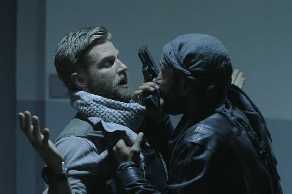 Mike Vogel as Capt. Adam Dalton  in a suspense-filled scene in 'The Brave' on NBC, a drama about America's elite undercover military heroes who tackle special operations all over the world.
