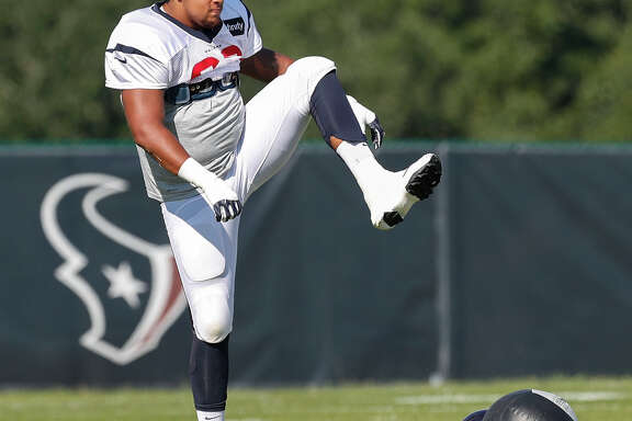Kendall Lamm has a leg up on winning the starting job at tackle, either right or left, for the Texans.