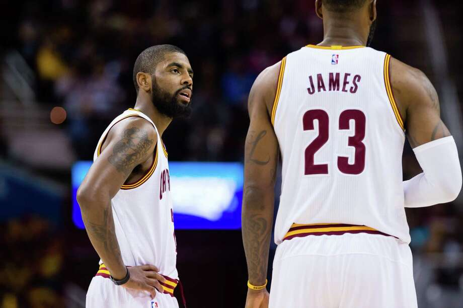 After teaming with LeBron James to win one NBA title, Kyrie Irving (left) will now be facing off against him in the East. Photo: Jason Miller / Getty Images / 2016 Jason Miller