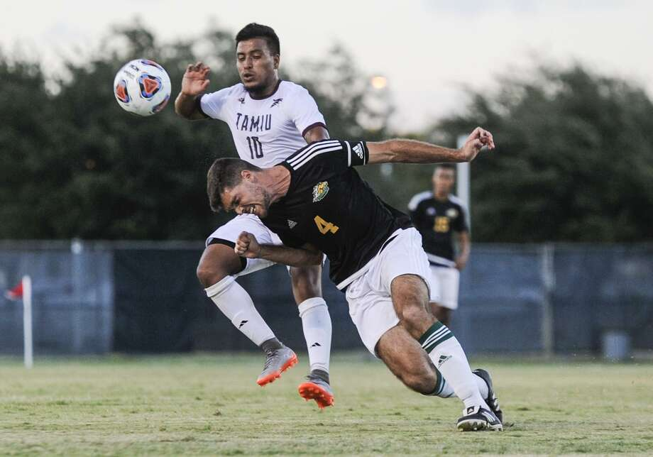 Alan Rivera and TAMIU soccer will play at home for the first time this year hosting No. 4 Midwestern State Thursday at 7 p.m. The Dustdevils' only action on their home field in 2017 came in a preseason exhibition against LCC. Photo: Danny Zaragoza /Laredo Morning Times File